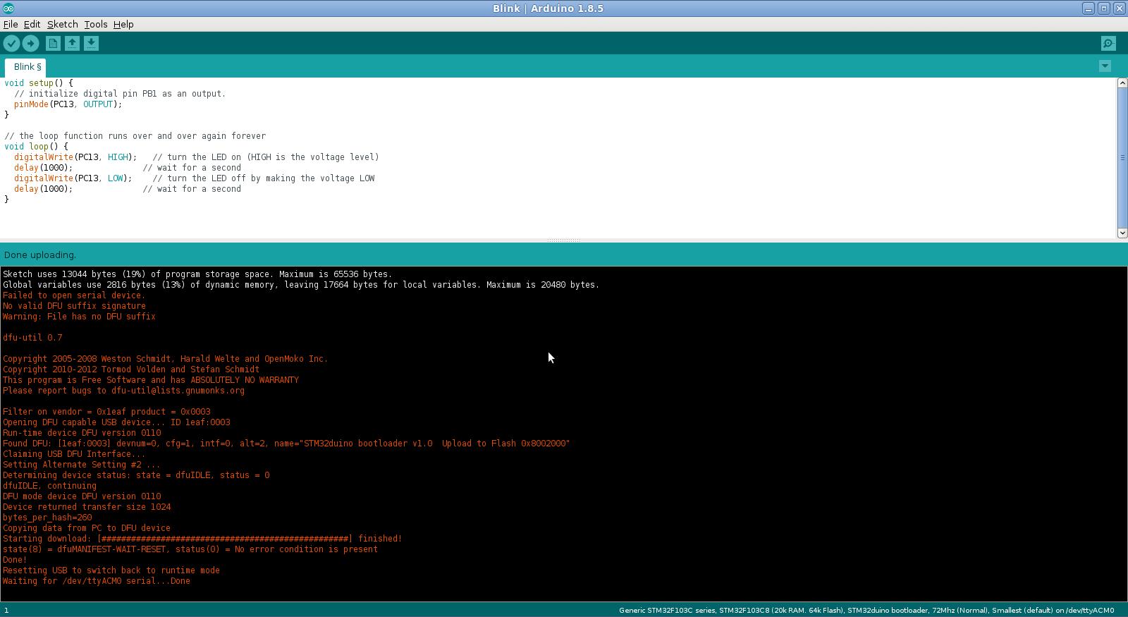 STM32 bluepill arduino IDE -  [ZooBaB]