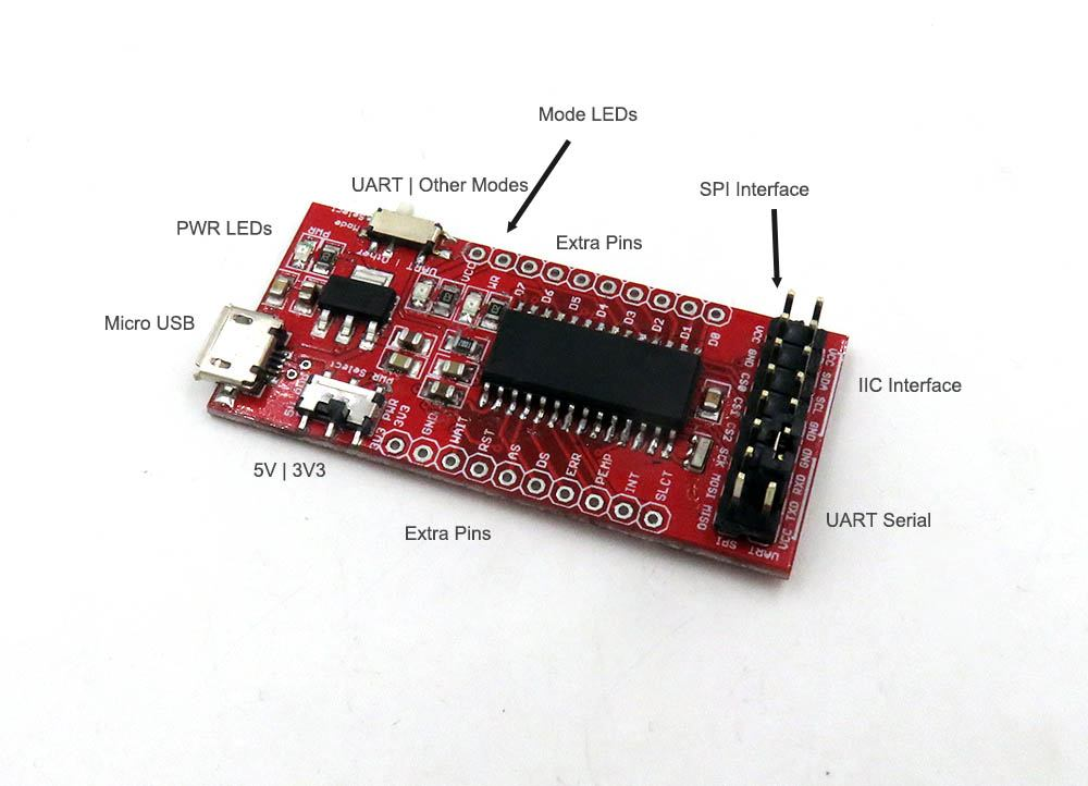 CH341 USB SPI I2C UART ISP dongle -  [ZooBaB]